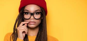 Muchacha afroamericana de moda Fotografía de archivo