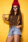 Muchacha afroamericana de moda Fotos de archivo libres de regalías
