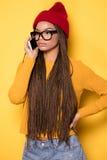 Muchacha afroamericana de moda Fotografía de archivo libre de regalías