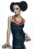 Muchacha agradable con el collar Imagen de archivo