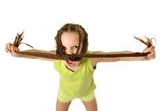 Muchacha agresiva Foto de archivo libre de regalías