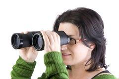 Muchacha aislada que busca para el asunto Fotos de archivo