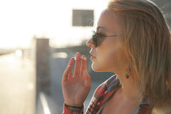 Muchacha al aire libre Imagen de archivo