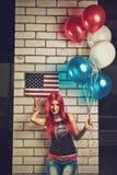 Muchacha americana Imagenes de archivo