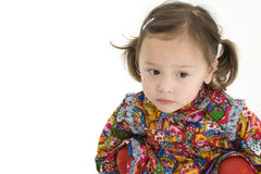 Muchacha americana japonesa hermosa del niño Foto de archivo libre de regalías