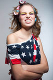 Muchacha americana linda con sonrisa dentuda Imagen de archivo libre de regalías
