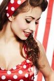 Muchacha americana patriótica atractiva Foto de archivo