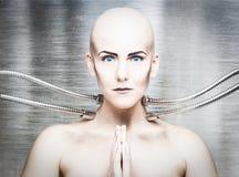 Muchacha androide Imagen de archivo libre de regalías