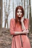 Muchacha apasionada del redhead Fotografía de archivo