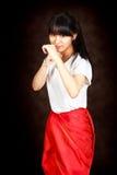 Muchacha asiática atractiva joven del adolescente Imagenes de archivo