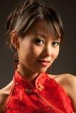 Muchacha asiática cómoda Foto de archivo libre de regalías