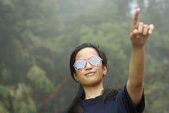 Muchacha asiática del malay que destaca Foto de archivo libre de regalías