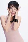 Muchacha asiática feliz Foto de archivo libre de regalías