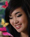 Muchacha asiática hermosa Fotos de archivo libres de regalías