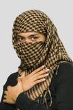 Muchacha asiática islámica con la bufanda Fotografía de archivo libre de regalías