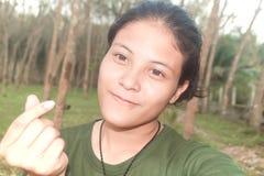 Muchacha asiática joven hermosa de Tailandia adolescente Fotos de archivo libres de regalías