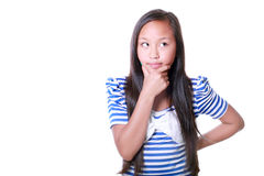 Muchacha asiática pensativa Foto de archivo