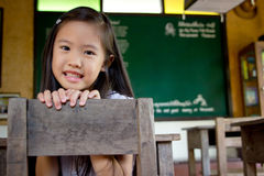 Muchacha asiática sonriente Fotografía de archivo libre de regalías