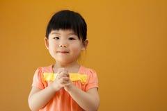 Muchacha asiática del niño del bebé Imagen de archivo