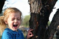 Muchacha asustada Foto de archivo libre de regalías