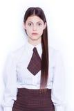 Muchacha asustada de la escuela Imágenes de archivo libres de regalías