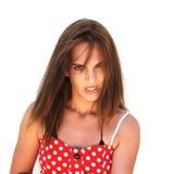 Muchacha atractiva con el pelo largo Fotografía de archivo