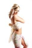 Muchacha atractiva de la manera Foto de archivo libre de regalías