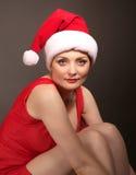 Muchacha atractiva de la Navidad Imagen de archivo libre de regalías