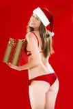 Muchacha atractiva de Santa Imagen de archivo libre de regalías