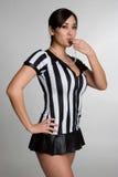 Muchacha atractiva del árbitro fotos de archivo libres de regalías