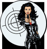Muchacha atractiva del agente secreto libre illustration