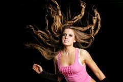 Muchacha atractiva del bailarín imagen de archivo