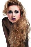 Muchacha atractiva del eje de balancín con maquillaje fresco Imágenes de archivo libres de regalías