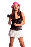 Muchacha atractiva del gángster Fotografía de archivo
