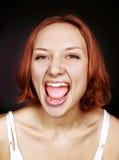 Muchacha atractiva del retrato emocional Fotos de archivo libres de regalías