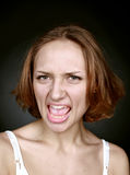 Muchacha atractiva del retrato emocional Imágenes de archivo libres de regalías