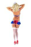 Muchacha atractiva en traje del juego de marinero Imagen de archivo libre de regalías