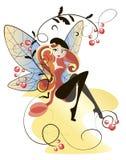 Muchacha atractiva - libélula Imagenes de archivo