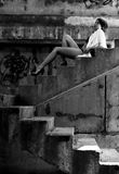 Muchacha atractiva urbana Imagen de archivo