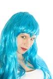 Muchacha azul Foto de archivo