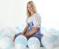 Muchacha bávara rubia Imagen de archivo libre de regalías