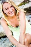 Muchacha bastante adolescente con el pelo rubio Fotografía de archivo