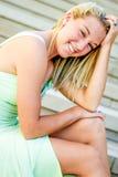 Muchacha bastante adolescente con el pelo rubio Fotografía de archivo libre de regalías
