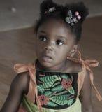 Muchacha bastante negra Imagen de archivo