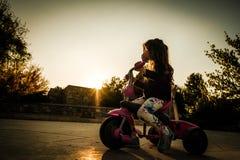 Muchacha Biking imágenes de archivo libres de regalías