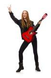 Muchacha bonita con la guitarra Imagen de archivo