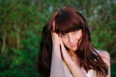 Muchacha bonita con los ojos verdes Fotografía de archivo libre de regalías