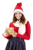 Muchacha bonita de la Navidad Fotografía de archivo