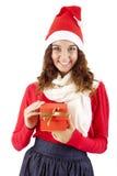 Muchacha bonita de la Navidad Imagen de archivo