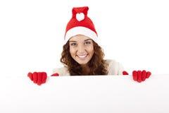 Muchacha bonita de la Navidad Imagenes de archivo